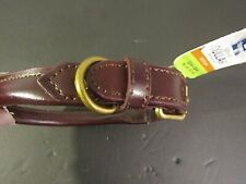 New listing *New* Top Paw Choco Brown Solid Leather Dog Collar Medium Size 15 - 18 in