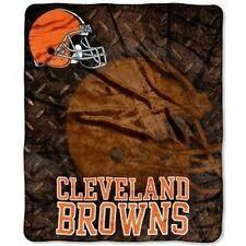 **NEW** NFL CLEVELAND BROWNS  50x60 Stadium Royal Plush Raschel Throw Blanket