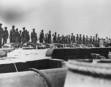 """Memorial service held on Atoll Battle of Midway 8""""x 10"""" World War II 2 Photo 459"""