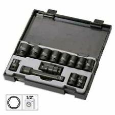 "Impact Socket Set Hexagonal Regular 13pc 1/2"" Drive 10mm - 24mm Heavy Duty"