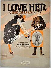 I Love Her Ooh La La La  sheet music WWI soldier cover art