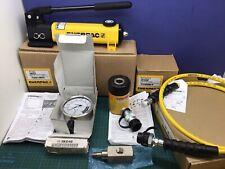 Enerpac Sch121h Rch121 P142 Pump Hydraulic Hollow Cylinder Set New