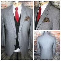 Stafford Classic Fit Linen Cotton Blend Tropical Sport Coat Mens Size 44 Long
