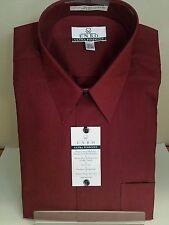 ENRO DAMON Men Dress Shirt Black Cherry  Ultra Pinpoint MSRP $79 NWT