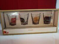 Collectible Shot Glass Barware - Lot of 4 Christmas Shot Glass Set