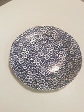 Vintage Burleigh ware Calico blue & white dinner plate