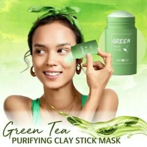 Green Tea Purifying Clay Stick Mask Oil Control Anti-Acne Eggplant Solid Fine...