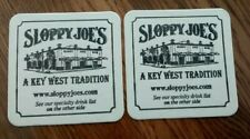 """2- """" Sloppy Joe's"""" Beer Coasters , Key West."""