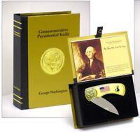 "7"" George Washington Presidential Knife Set - Freemason 1st President Eagle"