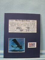 Charles Lindbergh Flies the Atlantic in the Spirit of St. Louis & his own stamp