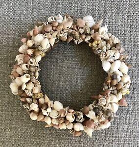 "Beautiful Mini Seashell Wreath, 7"""