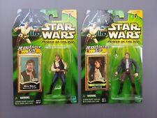 Star Wars POTJ Han Solo Bespin Capture & Death Star Escape action figure lot