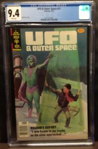 UFO & OUTER SPACE #21 6/79(GOLD KEY) CGC 9.4 #3711321007 - PAINTED COVER