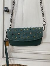 Coach $275 21638 Prairie Rivet Clutch Wristlet Leather Wallet chain Euc 1941