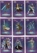 Star Wars Clone Wars  Complete Die Cut Stickers Chase Card Set 1-10 BY TOPPS