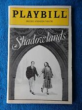 Shadowlands - Brooks Atkinson Theatre Playbill - November 1990 - Jane Alexander