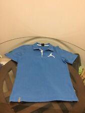 Nike Air Jordan Blue BIG LOGO #23 Jumpman Polo Shirt Men's Small Good Condition