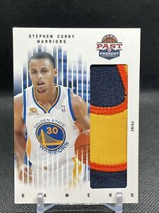 2012 Past and Present Stephen Curry Prime Gamers Throwback Patch /5 #79