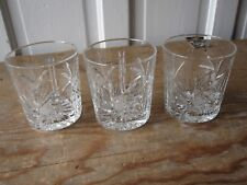 Three Crystal Pinwheel Double Old Fashioned Glasses