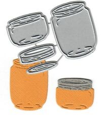 Dies...to die for metal cutting craft die -  Glass Jars with lid - Mason - small