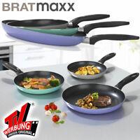 BRATmaxx Ultraleicht Pfannen Set 20/24/28 cm Antifhaftbeschichtung Bratpfanne !!
