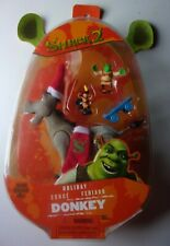 Shrek 2 Holiday Donkey Puss Boots 2004 Action Figure Sealed Hasbro DreamWorks