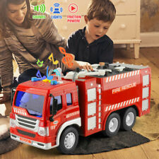 Fire Emergency Truck Rescue Fighters Vehicle 1/16 Water Tender Light &Sound Toys