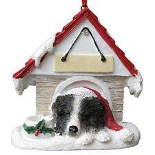 BORDER COLLIE ~ DOGHOUSE  ORNAMENT  ~ #5