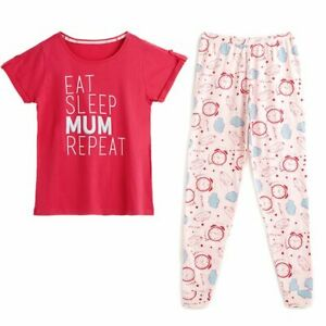 Avon Eat Sleep Mum Repeat PJ's/Pyjamas Size 20-22 New Ideal Gift For Mum (AA)