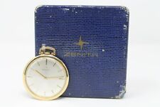 Orologio Tasca Pocket Watch Zenith Stellina Oro 18KT 750 Scatola Garanzia 1967