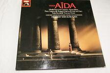 OPERA VERDI AIDA 3 LP VINYLE 1980 EMI KARAJAN CARRERAS FRENI GHISLANZONI BALTSA