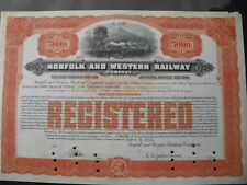 Norfolk and Western Railway Company  1911 50000$