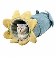 New Cute Pet Dog Tunnel Cat Sofa Bed House Cushion Mat Sleeping Bag Tent Kitty