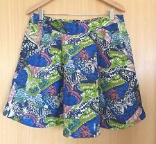 Fat Face Ladies Skirt 12 Butterfly Summer Casual Day Holiday Pockets EUC