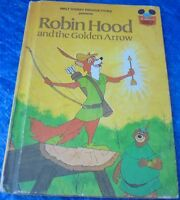 Walt Disney Productions Robin Hood And The Golden Arrow Book 1978 Used Vintage
