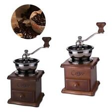 1pc Newly Manual Coffe Machine Grinder Coffee Mill Vintage Wooden Hand Crank
