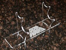 Acrylic 2 tier Light saber display stand holder w engraved Star Wars image