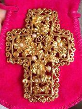 Superbe Broche Croix Signée CHRISTIAN LACROIX Haute Couture NEUVE