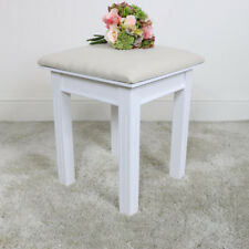 White wooden dressing table stool seating contemporary traditional furniture