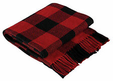 Classic Black and Red Buffalo Check Throw Blanket by Park Designs, 50x60 Inch