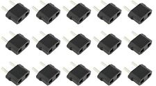 15 x Pieces US USA AC POWER PLUG ADAPTER TRAVEL CONVERTER to Euro EU EUROPE Pack
