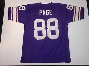 UNSIGNED CUSTOM Sewn Stitched Alan Page Purple Jersey - M, L, XL, 2XL, 3XL