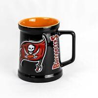 Vintage 2000 Official NFL Football Tampa Bay Buccaneers 3D Ceramic Stein Mug