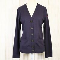 Lands End The Outfitters Navy Blue Sweater Size Small Womens Cardigan Buttons