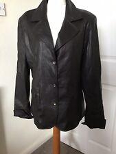 Woman Leather Jacket Dark Brown