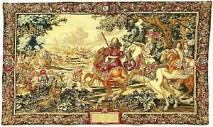 HIGH QUALITY BELGIAN TAPESTRY WALL HANGING, THE SUN KING, 113CM X 67CM, 00274