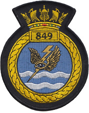 849 NAS Naval Air Squadron Royal Navy FAA Crest MOD Embroidered Patch