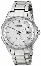 Citizen Men's Eco-Drive Super Titanium Ti + IP Watch AW1490-50A White Dial