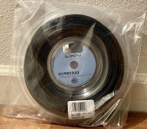 Luxilon ALU Power 125 Reel 16L Black (1.25mm String) Full 200m/660ft. New