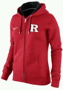 Nike Women Rutgers Classic Team Fleece Full Zip Sweatshirt jacket top football